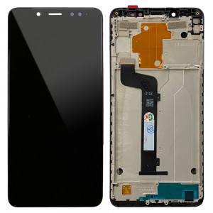 Xiaomi Redmi Note 5 / Note 5 Pro - Full Front LCD Digitizer with Frame Black