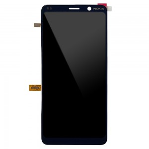 Nokia 9 PureView - Full Front LCD Digitizer Black with Fingerprint
