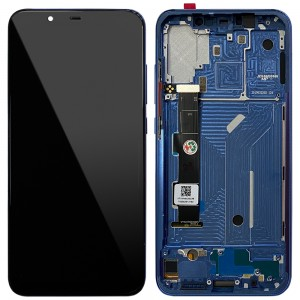 Xiaomi Mi 8 - Full Front LCD Digitizer with Frame Blue