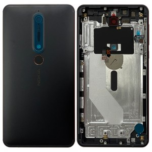 Nokia 6.1 - Back Housing Cover with Buttons Black / Copper
