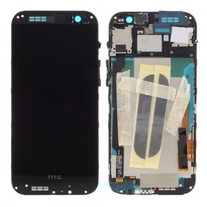 HTC One M8 - Full Front LCD Digitizer With Frame Black