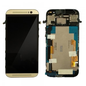 HTC One M8 - Full Front LCD Digitizer With Frame Gold