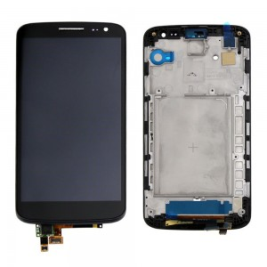 LG G2 Mini D618 - Full front LCD Digitizer  With Frame   Black