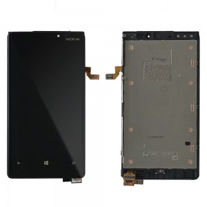 Nokia Lumia 920 - Full Front LCD Digitizer With Frame Black