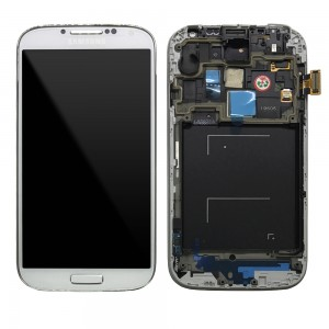 Samsung Galaxy S4 I9505 - Full Front LCD Digitizer With Frame White