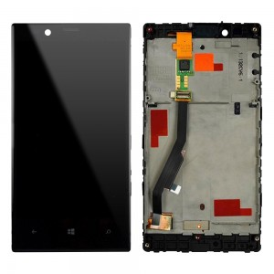 Nokia Lumia N720 - Full front LCD with frame Black