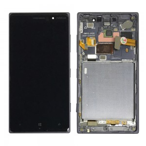Nokia Lumia 830 - Full Front LCD Digitizer with Frame Black