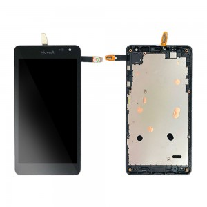 Microsoft Lumia 535 2S - Full Front LCD Digitizer With Frame Black