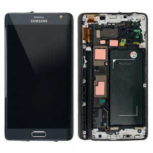 Samsung Galaxy Note Edge SM-N915 - Full Front LCD Digitizer With Frame Black
