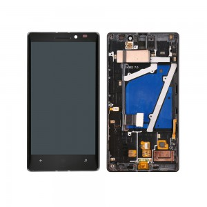 Nokia Lumia 930 - Full Front LCD Digitizer With Frame Black