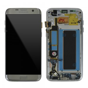 Samsung Galaxy S7 Edge G935F - Full front LCD Digitizer Silver With Frame