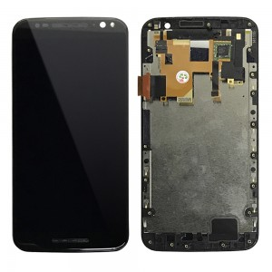 Motorola Moto X Style XT1575 XT1570 XT1572 - Full Front LCD Digitizer Black With LCD Frame