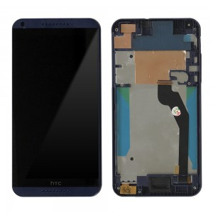 HTC Desire 816H - Full Front LCD Digitizer with Frame Blue