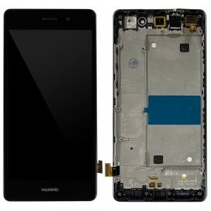 Huawei Ascend P8 Lite - Full Front LCD Digitizer With Frame Black