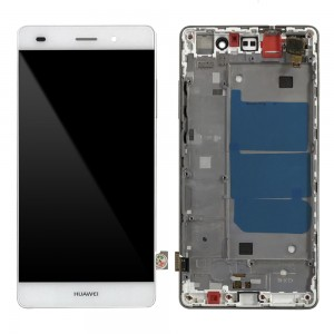 Huawei Ascend P8 Lite - Full Front LCD Digitizer With Frame White