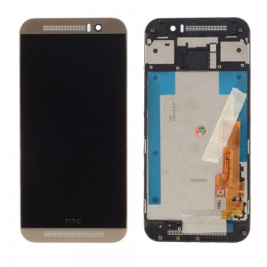 HTC One M9 - Full Front LCD Digitizer With Frame Gold