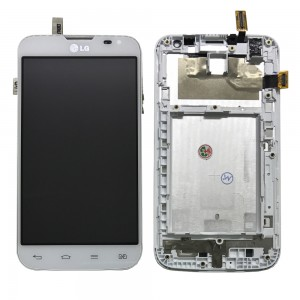 LG L70 D325 - Full Front LCD Digitizer with Frame White