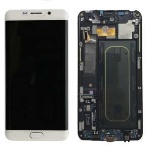 Samsung Galaxy S6 Edge Plus G928F - Full Front LCD Digitizer with frame White