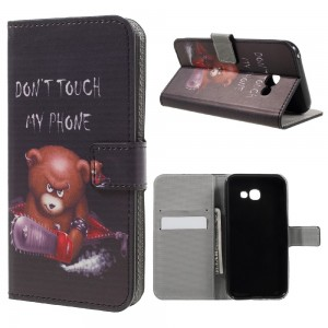 Samsung Galaxy A3 2017 A320 - Patterned Leather Wallet Image Case