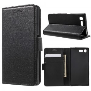 Sony Xperia X Compact F5121 - Lychee Skin Leather Wallet Case