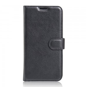 Huawei P9 Lite - Litchi Grain Card Holder Case
