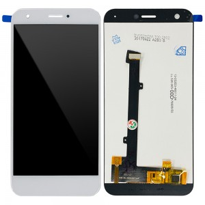 ZTE Blade A512 - Full Front LCD Digitizer White with Frame