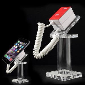 Anti-Theft Security Mobile Phone stand Holder With 70cm Spring Wire
