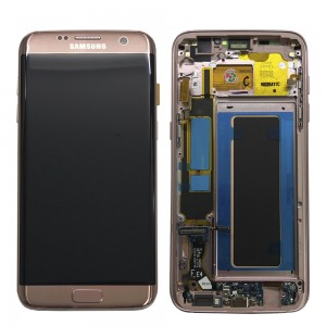 Samsung Galaxy S7 Edge G935F - Full front LCD Digitizer Pink with Frame