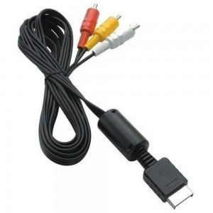 AV Audio Video to RCA Composite Cable PS2 PS3