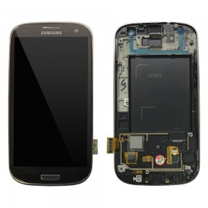 Samsung Galaxy S3 I9300 - Full front LCD Digitizer With Frame Copper ( Refurbished )