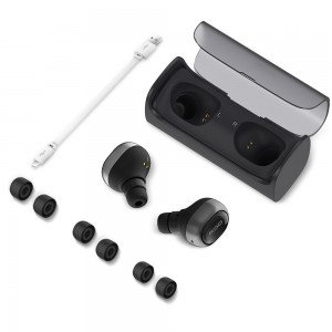 QCY - Q29 Stereo Voice Noise Canceling Dual Mini V4.1 Bluetooth Headset Wireless Earbuds with Charging Case