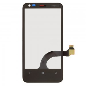 Nokia Lumia 620 MLA A - Front Glass Digitizer With Frame Black