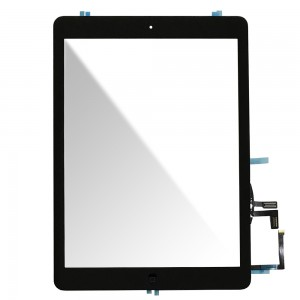 Ipad Air - Front Glass Digitizer With 3M Adhesive Sticker Black