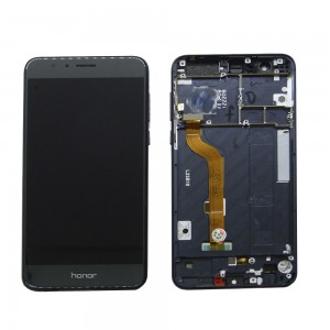 Huawei Honor 8 - Full Front LCD Digitizer with Frame Black