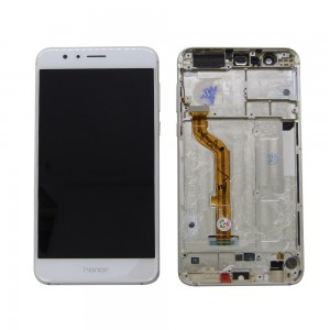 Huawei Honor 8 - Full Front LCD Digitizer with Frame White