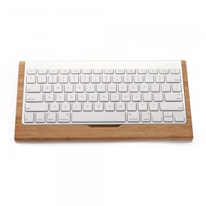 SAMDI Wood Keyboard Tray Wooden Stand for Mac Pro Bluetooth Keyboard