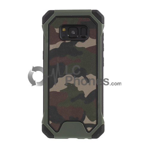 Samsung Galaxy S8 Plus - Army Patterned PC+TPU Hybrid Case
