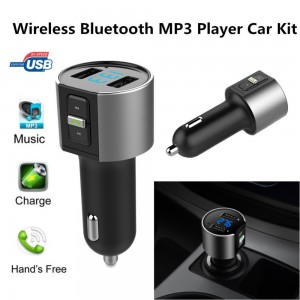 C26S Bluetooth Hands-Free Car Kit With FM Tansmitter & Max. 3.4A