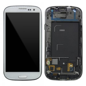 Samsung Galaxy S3 I9300 - Full front LCD Digitizer With Frame White ( Refurbished )