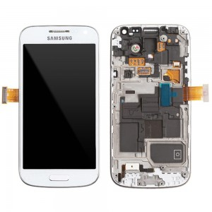 Samsung Galaxy S4 Mini I9195 - Full Front LCD Digitizer With Frame White ( Refurbished )