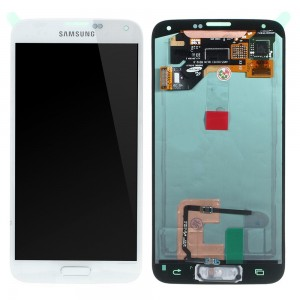 Samsung Galaxy S5 G900F - Full Front LCD Digitizer White