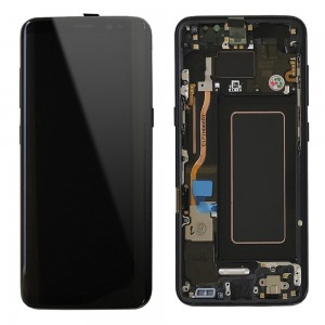 Samsung Galaxy S8 G950F - Full Front LCD Digitizer Black With Frame