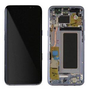 Samsung Galaxy S8 G950F - Full Front LCD Digitizer Violet With Frame
