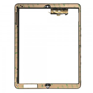 iPad 1 3G - Middle Frame Plastic Black with Home Button Board and Holder