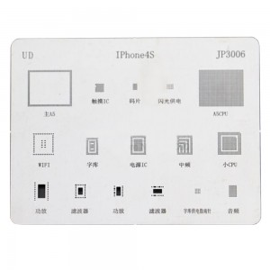 IC Repair BGA Rework Reballing Stencil Template for iPhone 4S