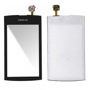 Nokia Asha 306 - Front Glass Digitizer Black