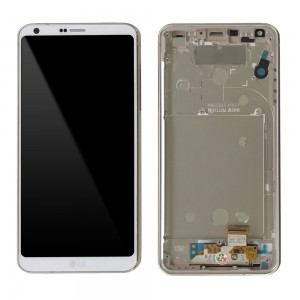 LG Optimus G6 H870 - Full Front LCD Digitizer with Frame White