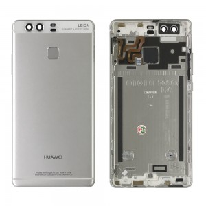 Huawei Ascend P9 - Back Housing with Fingerprint Sensor Flex Silver