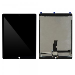 iPad Pro 12.9 (2016) - Full Front LCD Digitizer with Plate  Black
