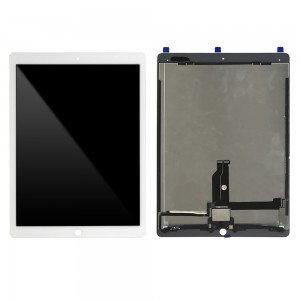 iPad Pro 12.9 (2016) - Full Front LCD Digitizer with Plate  White